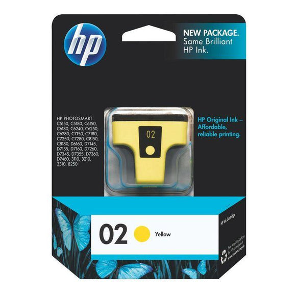HP 02 Yellow Ink Cartridge C8773WA