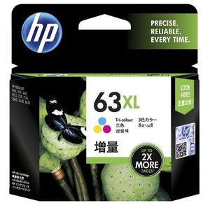 HP 63XL Tri Colour Ink Cartridge F6U63AA