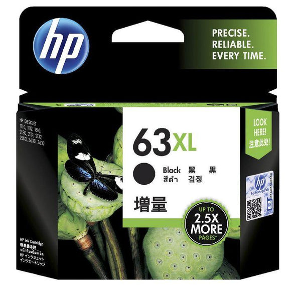 HP 63XL Black Ink Cartridge F6U64AA