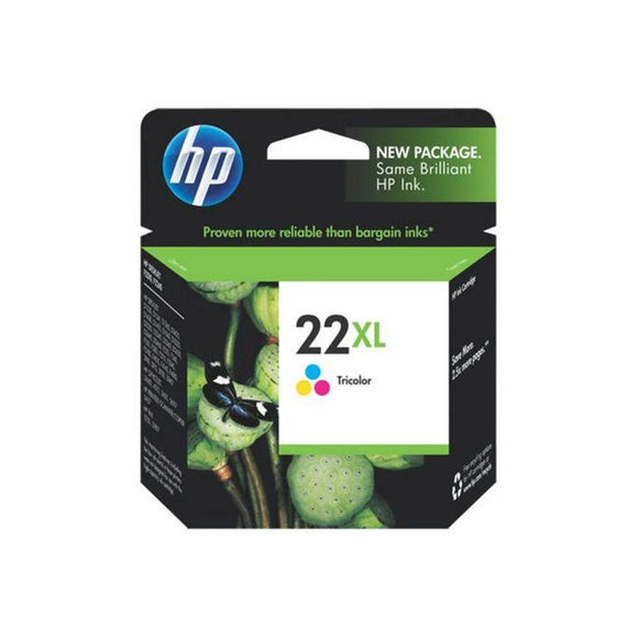 HP 22XL Tri Colour Ink Cartridge C9352CA