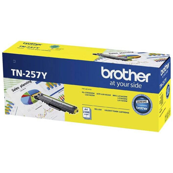 Brother TN-257 Yellow Toner TN-257Y TN257Y at $168.65