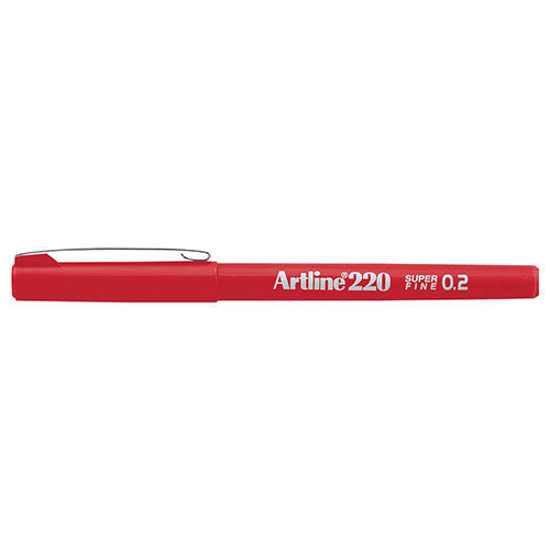 Artline 220 Fineliner Red 12 Pack