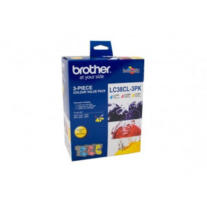 Brother LC-38 CMY Colour Pack LC-38CL3PK