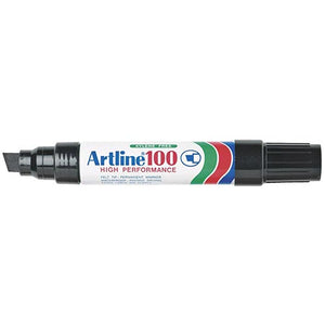 Artline 100 Jumbo Permanent Marker Black 6 Pack