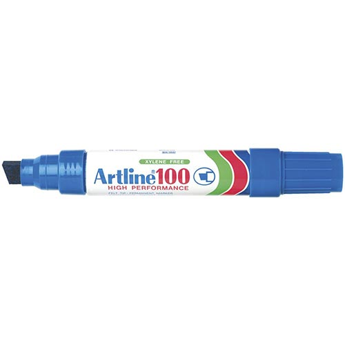 Artline 100 Jumbo Permanent Marker Blue 6 Pack