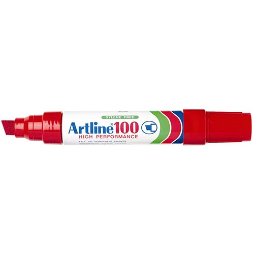 Artline 100 Jumbo Permanent Marker Red 6 Pack