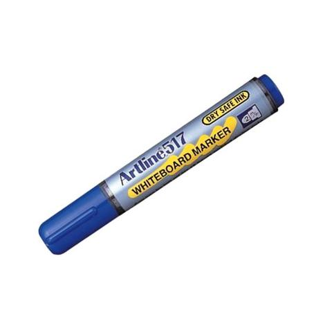 Artline 517 Drysafe Whiteboard Markers Blue 12 Pack