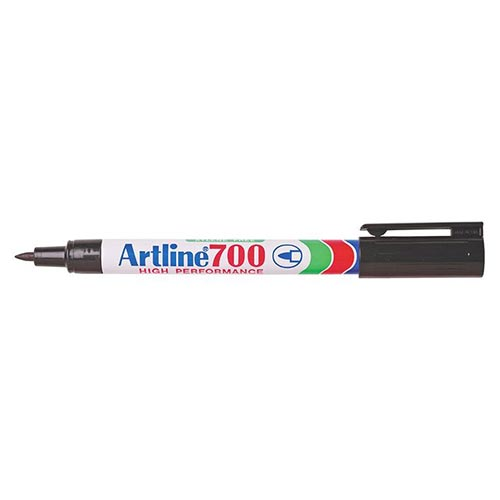 Artline 700 Permanent Marker Black 12 Pack