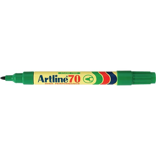Artline 70 Permanent Marker Green 12 Pack