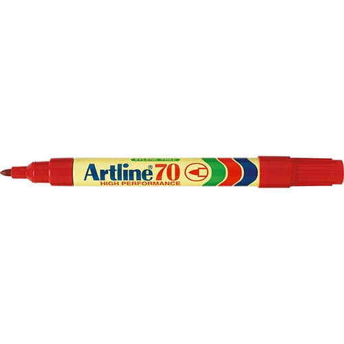 Artline 70 Permanent Marker Red 12 Pack