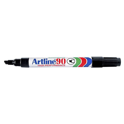 Artline 90 Permanent Marker Black 12 Pack