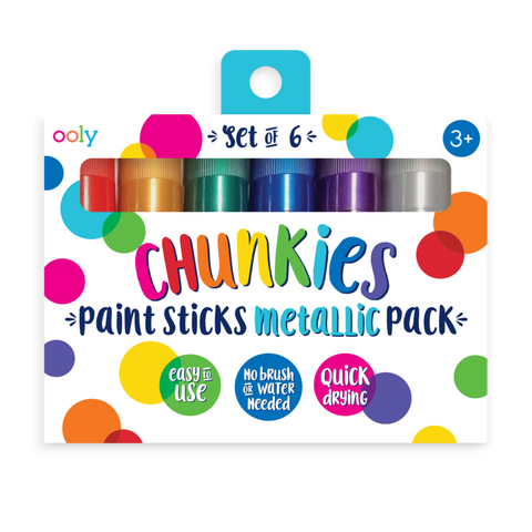 Chunkies Paint Sticks - Metallic - 6 pack