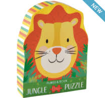 12 Piece Shaped Jigsaw Puzzle - Lion