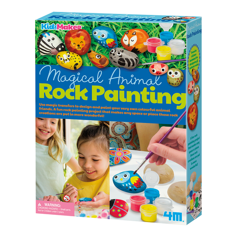 Magical Animal Rock Painting