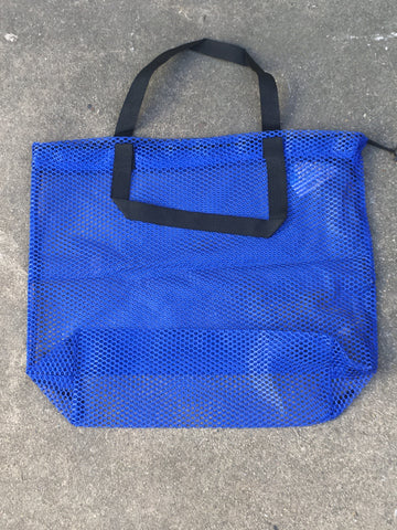 Mesh Bag Carry-All with handles - Blue