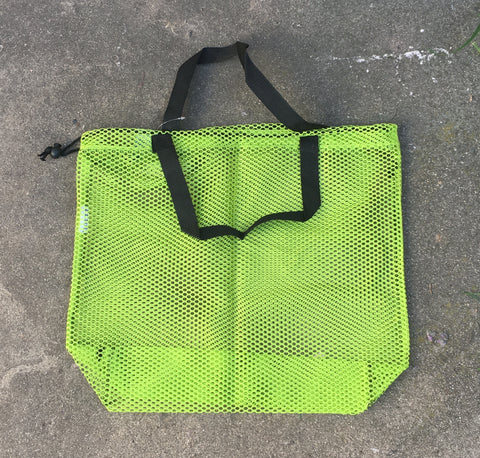 Mesh Bag Carry-All with handles - Neon green