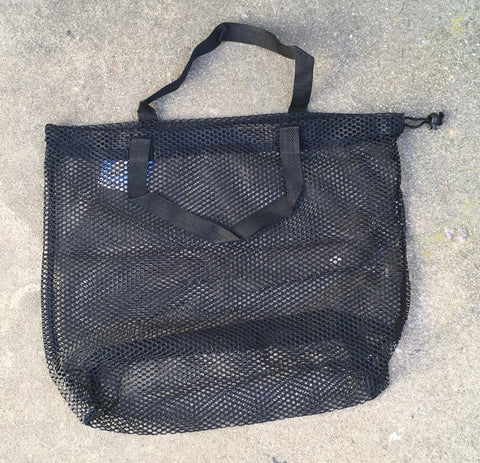 Mesh Bag Carry-All with handles - Black