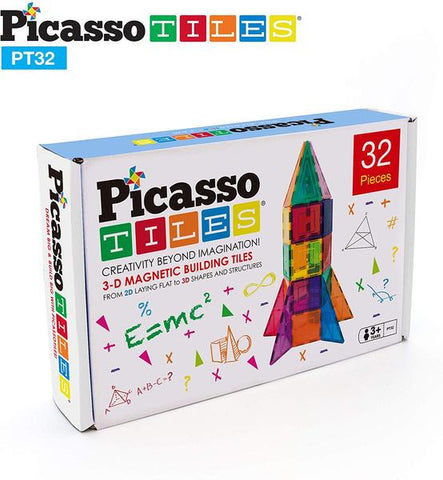 Picasso Tiles Magnetic Building Kit - Rocket