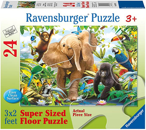 Puzzle Super Sized - Elephant Gorilla