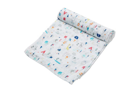 Angel Dear Swaddle Blanket - ABC Animals
