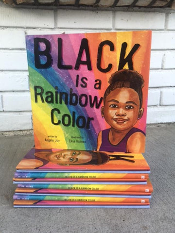 Black is a Rainbow Color by Angela Joy - Signed copy by Author