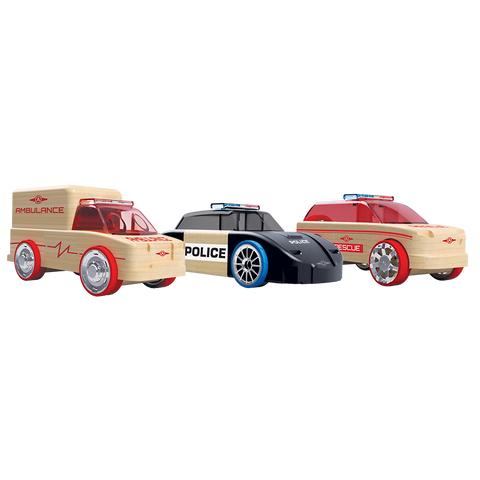 Automoblox Mini 3-Pack Rescue Vehicles