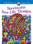 Coloring Book: Spectacular Sea Life Designs