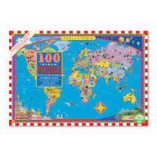 Puzzle 100 pc - World  Map