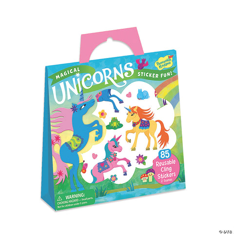 Reusable Sticker Tote - Magical Unicorns