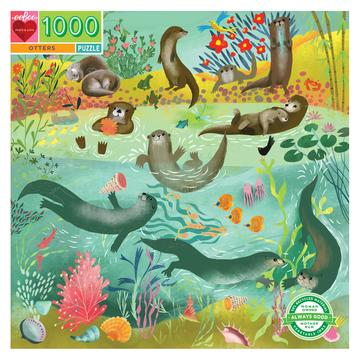1,000 pc Puzzle - Otters