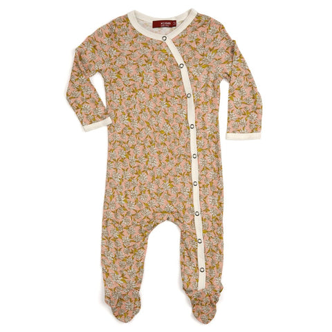 Footed Romper Rose Floral -Size 12-18 months - No Returns on Clothing