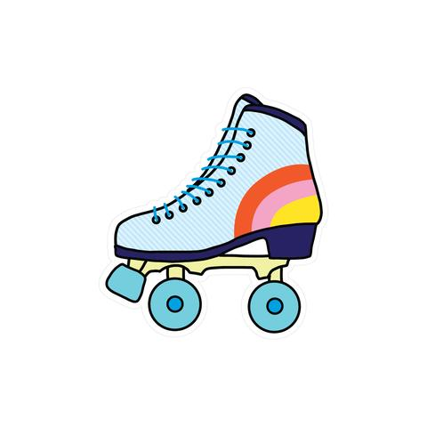 Vinyl Sticker - Retro Skate