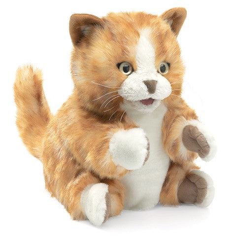 Orange Tabby Kitten Hand Puppet