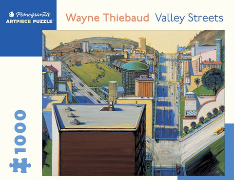 1,000 pc Puzzle - Wayne Thiebaud: Valley Streets