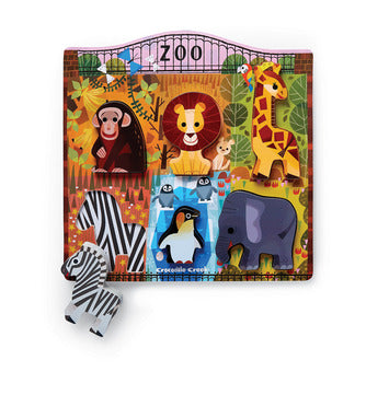 6 pc Let's Play Wood Puzzle - Zoo