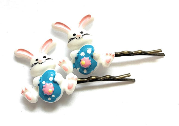 Easter Bunny Hairpins