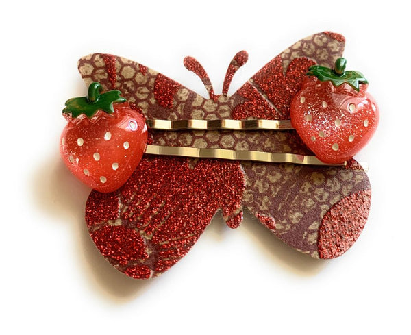 Big Strawberry Hairpins