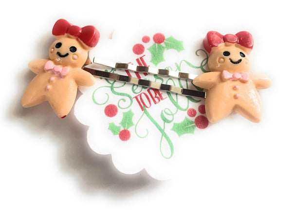 Gingerbread Girl Hairpins