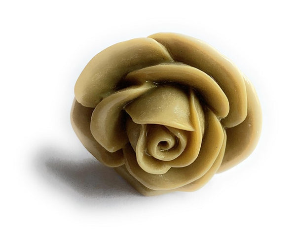 Army Green Rose Adjustable Ring