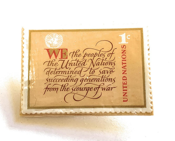 United Nations Postage Stamp Pin