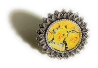 Bling Flower Ring