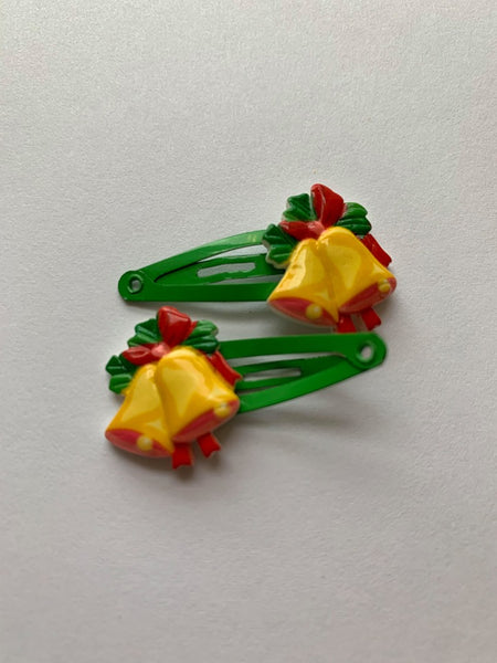 Christmas Bells Hair Clips