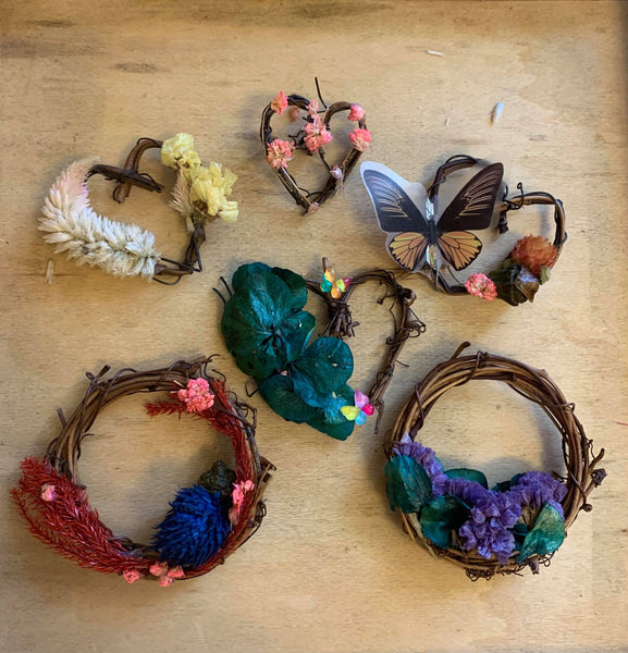 Mini Floral Wreath Magnet