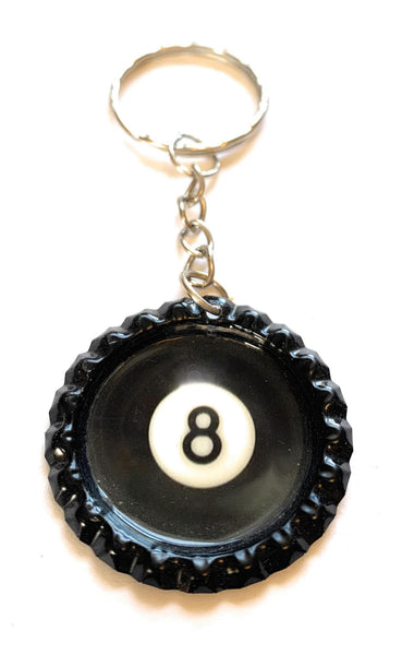 Eight Ball Key Ring