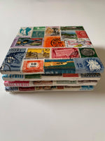 Postage Stamp Coaster Set