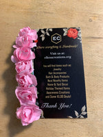 Pink Roses Hair Barrette