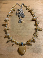 Citrine and Yellow Jade Necklace