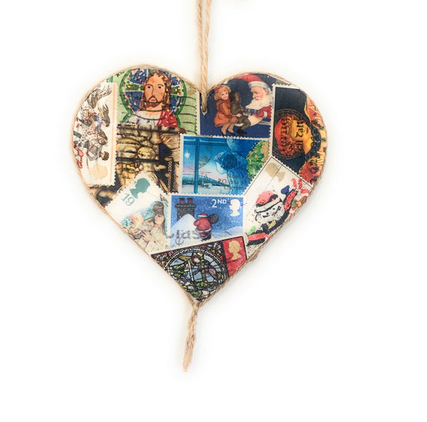 Great Britain Postage Heart Ornament