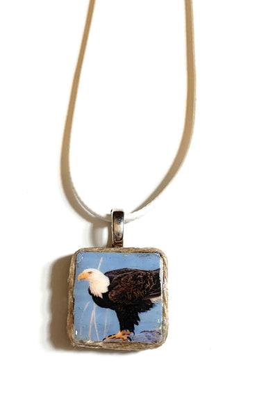 Eagle Ceramic Tile Necklace