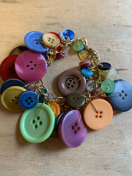 Colorful Buttons Bracelet